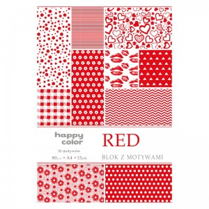 Blok z motywami HAPPY COLOR Red 80 g/m²