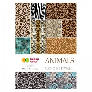 Blok z motywami HAPPY COLOR Animals 80 g/m²