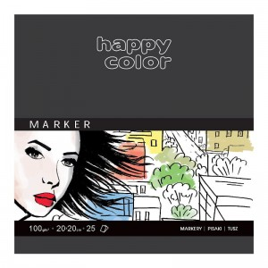 Blok do markerów HAPPY COLOR Marker 20x20 cm 100 g/m²