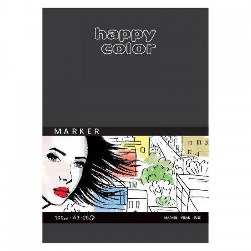 Blok do markerów HAPPY COLOR Marker A3 100 g/m²
